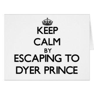 Guarde la calma escapándose a príncipe tarjeta de felicitación grande