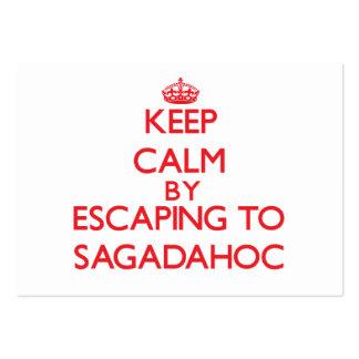 Guarde la calma escapándose a Sagadahoc Maine Plantillas De Tarjetas Personales
