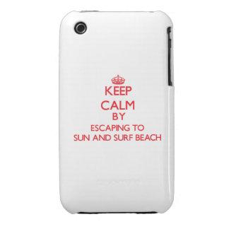 Guarde la calma escapándose a Sun y practique surf Case-Mate iPhone 3 Protector