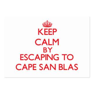 Guarde la calma escapándose al cabo San Blas la Tarjetas De Visita Grandes