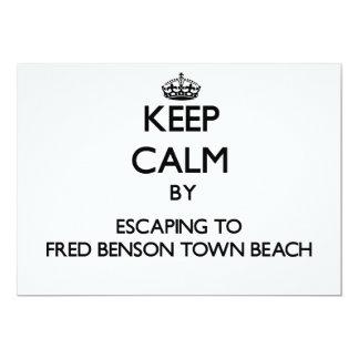 """Guarde la calma escapándose al derecho de la playa invitación 5"""" x 7"""""""