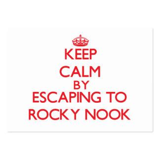 Guarde la calma escapándose al escondrijo rocoso tarjetas de visita grandes