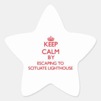Guarde la calma escapándose al faro Massa de Calcomania Forma De Estrella
