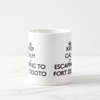 Guarde la calma escapándose al fuerte Desoto la Fl Taza