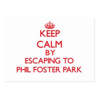 Guarde la calma escapándose al parque adoptivo la tarjetas de visita grandes