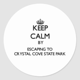 Guarde la calma escapándose al parque de estado pegatina redonda