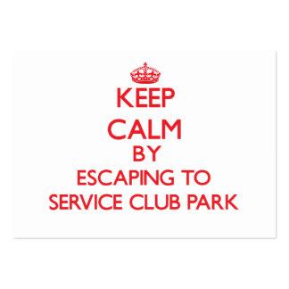 Guarde la calma escapándose al parque la Florida d Tarjeta De Visita