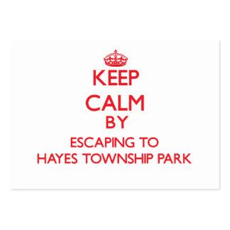 Guarde la calma escapándose al parque Michi del Tarjetas De Visita Grandes