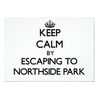 """Guarde la calma escapándose al parque nuevo Hampsh Invitación 5"""" X 7"""""""