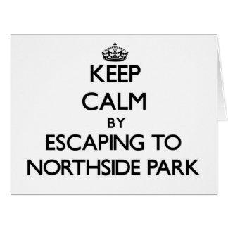 Guarde la calma escapándose al parque nuevo Hampsh Tarjeta De Felicitación Grande