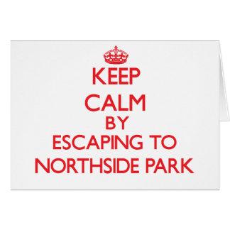 Guarde la calma escapándose al parque nuevo Hampsh Tarjeta De Felicitación