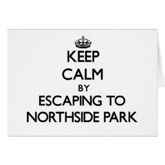 Guarde la calma escapándose al parque nuevo Hampsh Tarjeta Pequeña