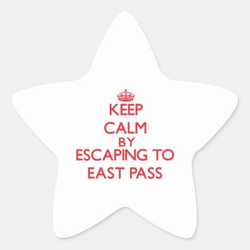 Guarde la calma escapándose al paso del este la pegatinas forma de estrella