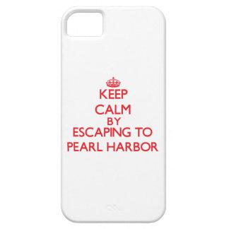 Guarde la calma escapándose al Pearl Harbor Hawaii iPhone 5 Carcasas