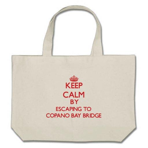 Guarde la calma escapándose al puente Tejas de la  Bolsas De Mano