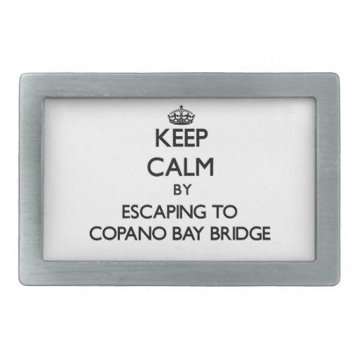 Guarde la calma escapándose al puente Tejas de la  Hebillas De Cinturón Rectangulares