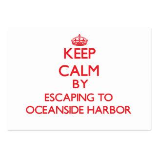 Guarde la calma escapándose al puerto Californ de Tarjetas De Visita Grandes