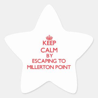 Guarde la calma escapándose al punto Californi de Calcomanías Forma De Estrellaes Personalizadas