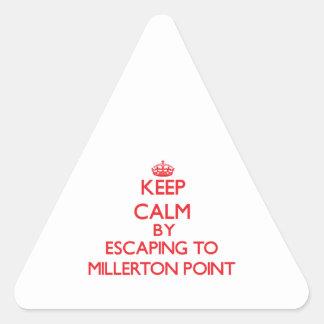Guarde la calma escapándose al punto Californi de Pegatinas De Triangulo Personalizadas