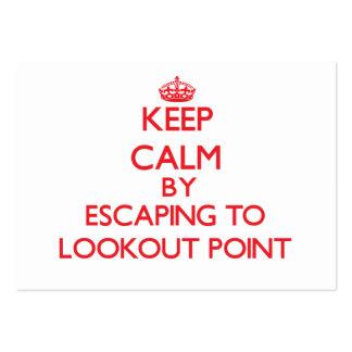 Guarde la calma escapándose al punto Tejas del pue Plantilla De Tarjeta De Negocio