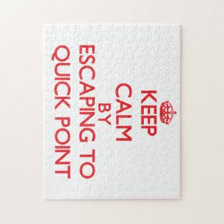 Guarde la calma escapándose aprisa para señalar la puzzle