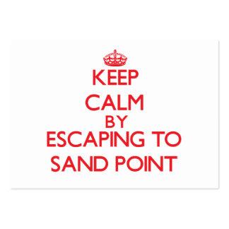 Guarde la calma escapándose para enarenar el punto tarjetas de visita grandes