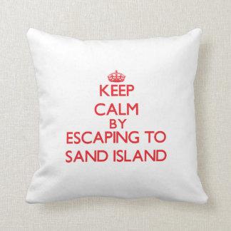 Guarde la calma escapándose para enarenar la isla cojin