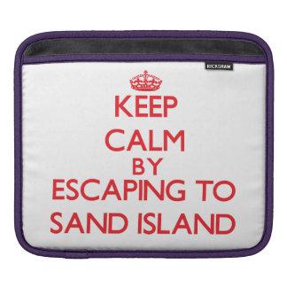 Guarde la calma escapándose para enarenar la isla funda para iPads