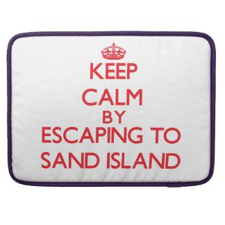 Guarde la calma escapándose para enarenar la isla fundas para macbooks