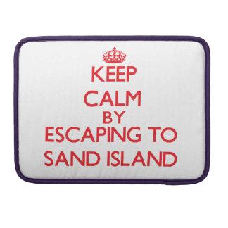 Guarde la calma escapándose para enarenar la isla fundas macbook pro