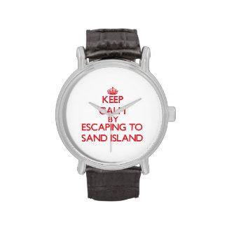 Guarde la calma escapándose para enarenar la isla reloj