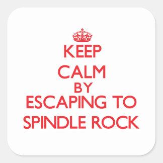 Guarde la calma escapándose para orientar la roca pegatinas cuadradases