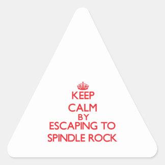 Guarde la calma escapándose para orientar la roca pegatinas de triangulo personalizadas