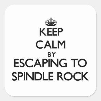 Guarde la calma escapándose para orientar la roca pegatina cuadradas