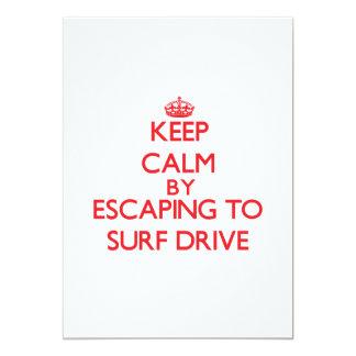 """Guarde la calma escapándose para practicar surf la invitación 5"""" x 7"""""""