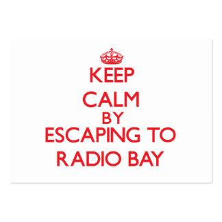 Guarde la calma escapándose para radiar la bahía H