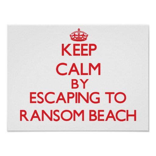 Guarde la calma escapándose para rescatar la playa posters