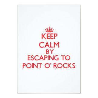 Guarde la calma escapándose para señalar las rocas anuncio personalizado