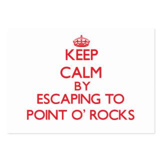 Guarde la calma escapándose para señalar las rocas tarjeta de visita