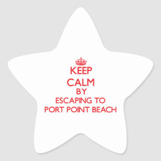 Guarde la calma escapándose para virar la playa pegatinas forma de estrellaes personalizadas