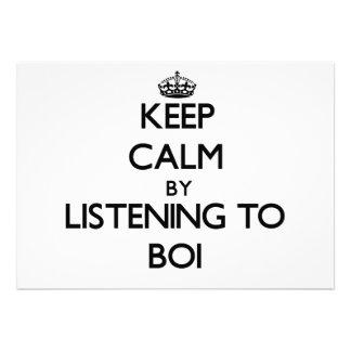 Guarde la calma escuchando BOI Anuncio