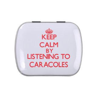 Guarde la calma escuchando CARACOLES