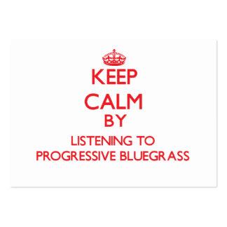Guarde la calma escuchando el BLUEGRASS PROGRESIVO Tarjetas Personales