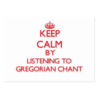 Guarde la calma escuchando el CANTO GREGORIANO Tarjeta Personal
