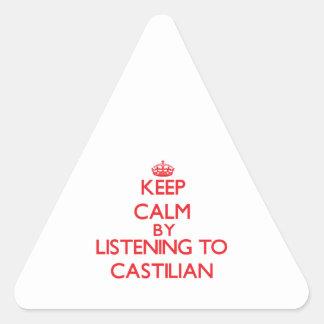 Guarde la calma escuchando el CASTELLANO