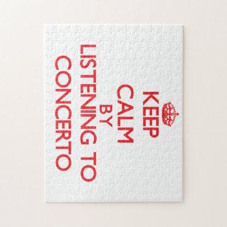 Guarde la calma escuchando el CONCIERTO Puzzles Con Fotos