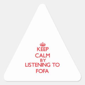 Guarde la calma escuchando el FOFA