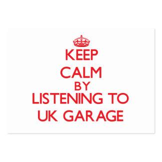 Guarde la calma escuchando el GARAJE BRITÁNICO Plantilla De Tarjeta De Negocio