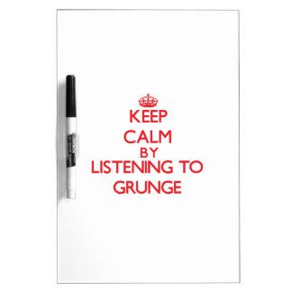 Guarde la calma escuchando el GRUNGE
