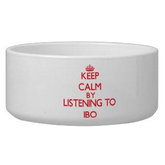 Guarde la calma escuchando el IBO Tazones Para Perrros